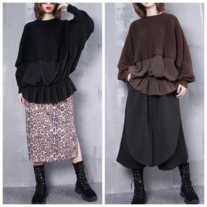 Tops - 🆕 Oversize Puff Flowing Bat Wing Sweater Top